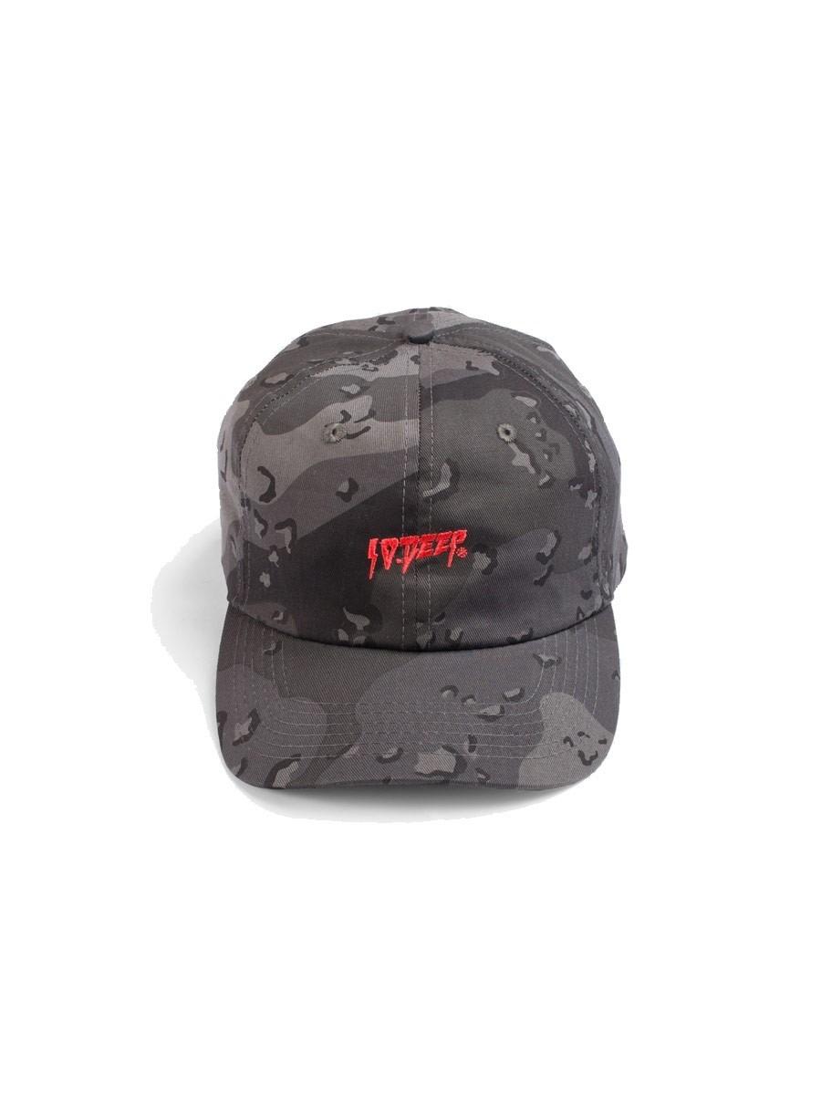 10 Deep Sound   Fury Camo Dad Hat - Black Chips 09357cb99ae
