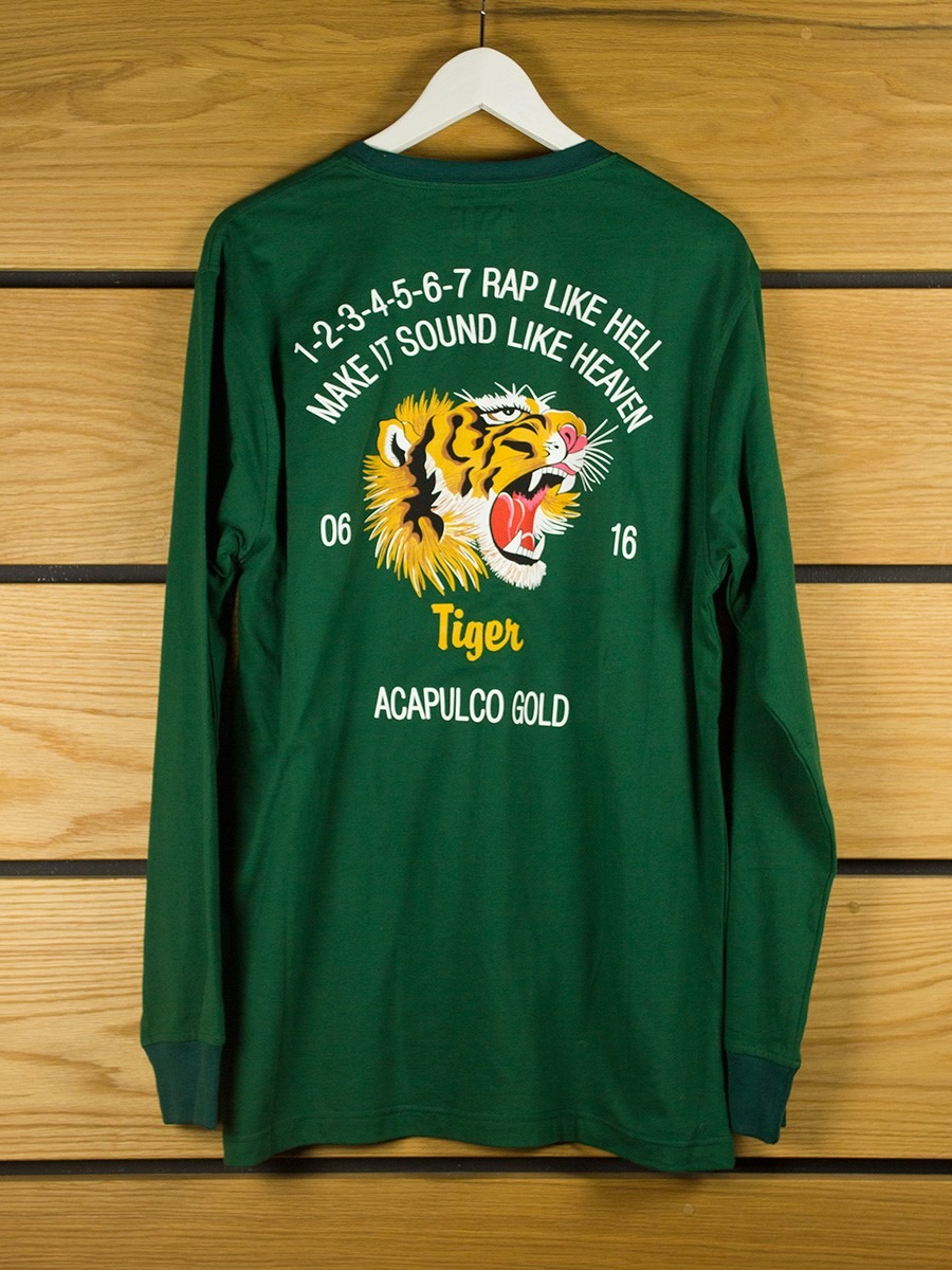 Acapulco Gold Flying Tiger L S T Shirt Forest Green