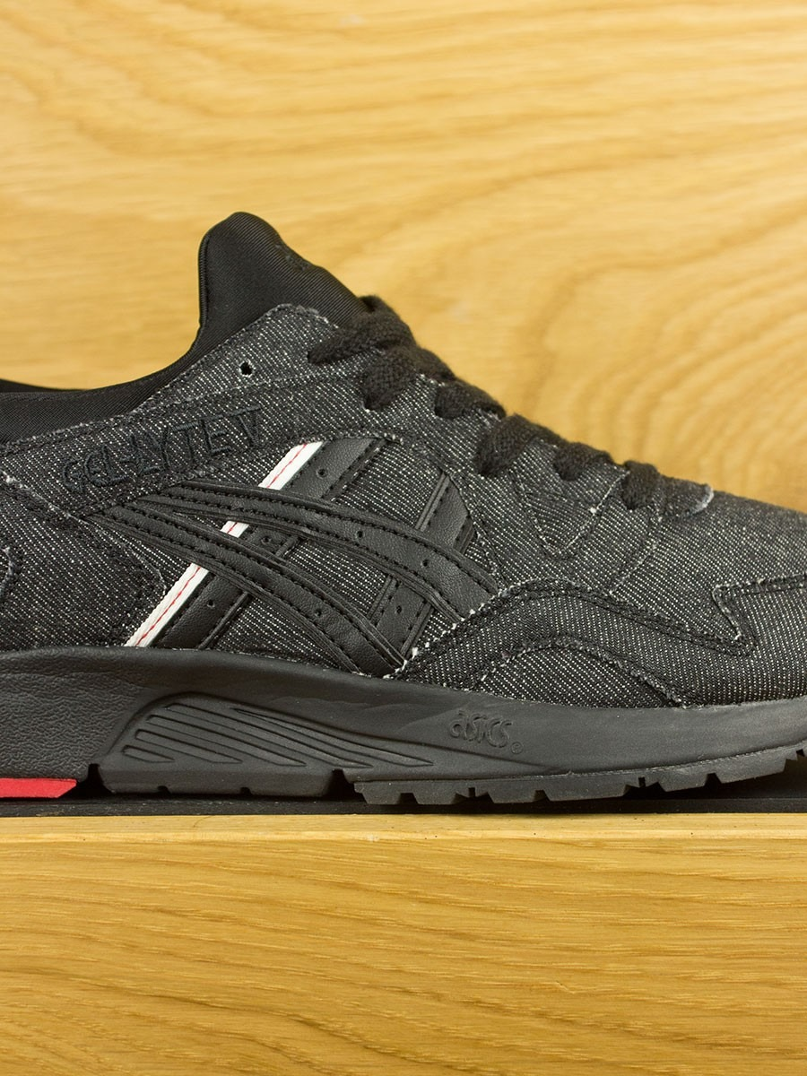 Black Gel Nails With One Silver Glitter Nail: Asics Gel-Lyte V 'Selvedge Denim'