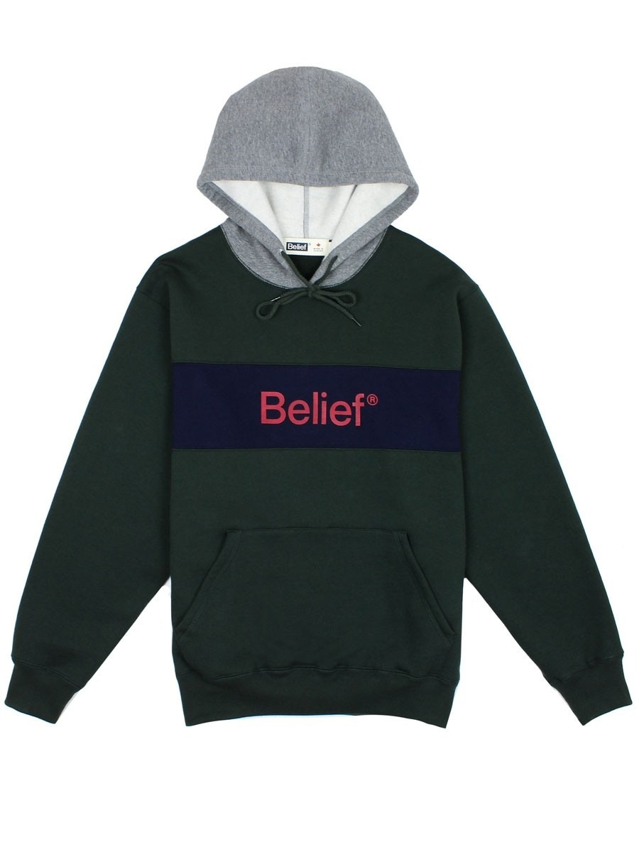 656c88a4b51d5e Belief Academic Premium Pullover Hoody - Park Green