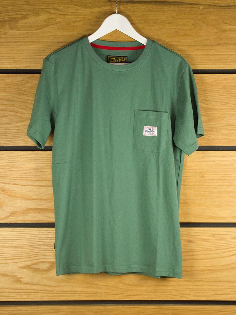 Benny Gold Premium Pocket T Shirt Army Green T Shirts
