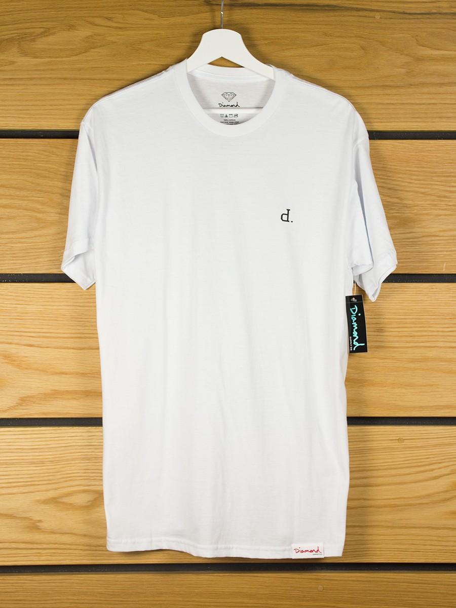 Diamond supply mini un polo t shirt white for Diamond supply co polo shirts