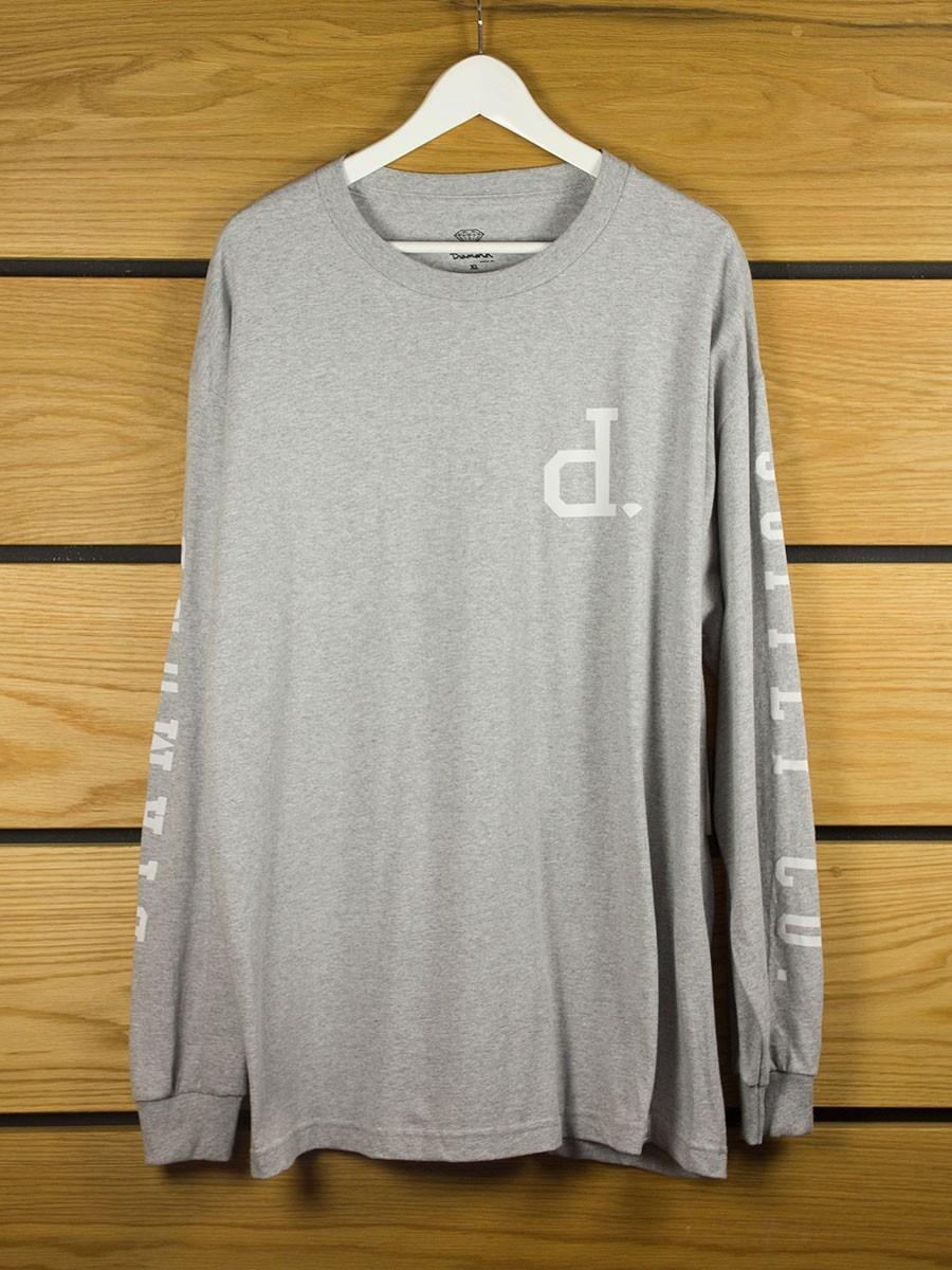 Diamond supply tonal un polo l s t shirt athletic heather for Diamond supply co polo shirts