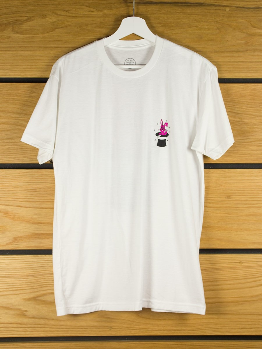 Good worth co drunk bunny t shirt white for Good white t shirts