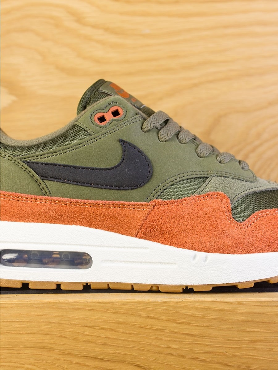 more photos a77ef f3d98 Nike Air Max 1 - Olive Canvas Black Dark Russet