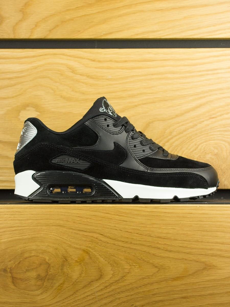 f1eb51e706315a Nike Air Max 90 Premium  Rebel Skull  - Black Off White
