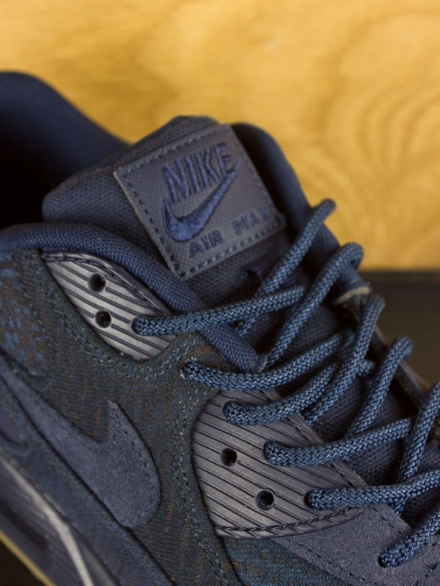 Nike Air Max 90 Indigo Laine Premium Obsidienne Et Marine