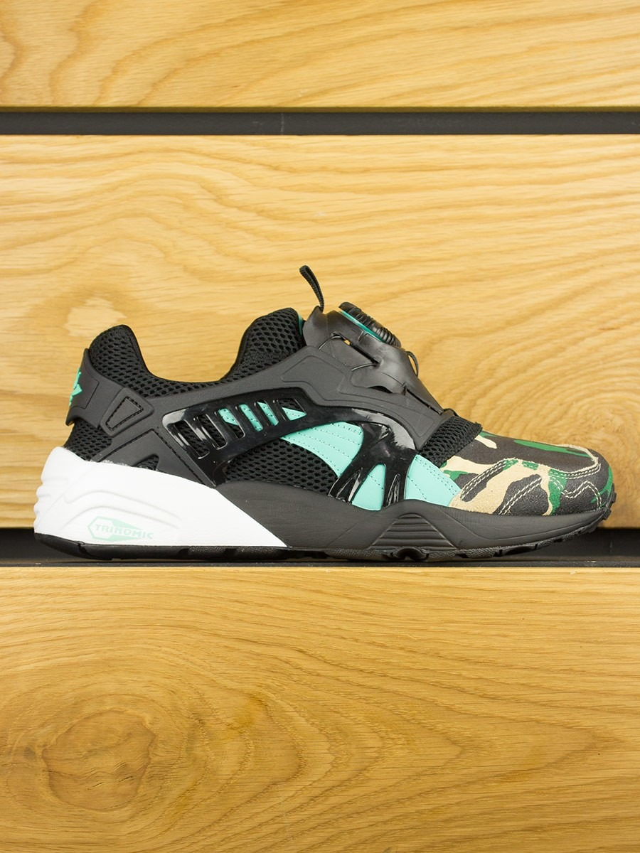 puma disc blaze x atmos 39 night jungle 39 black electric. Black Bedroom Furniture Sets. Home Design Ideas