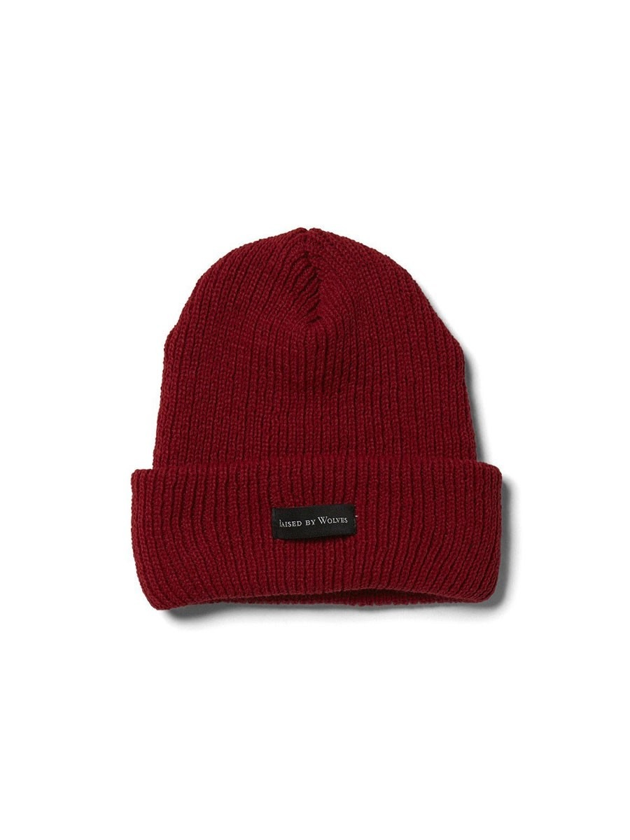 bf06ebcd1dc Raised by Wolves Moraine Watch Cap Beanie - Red