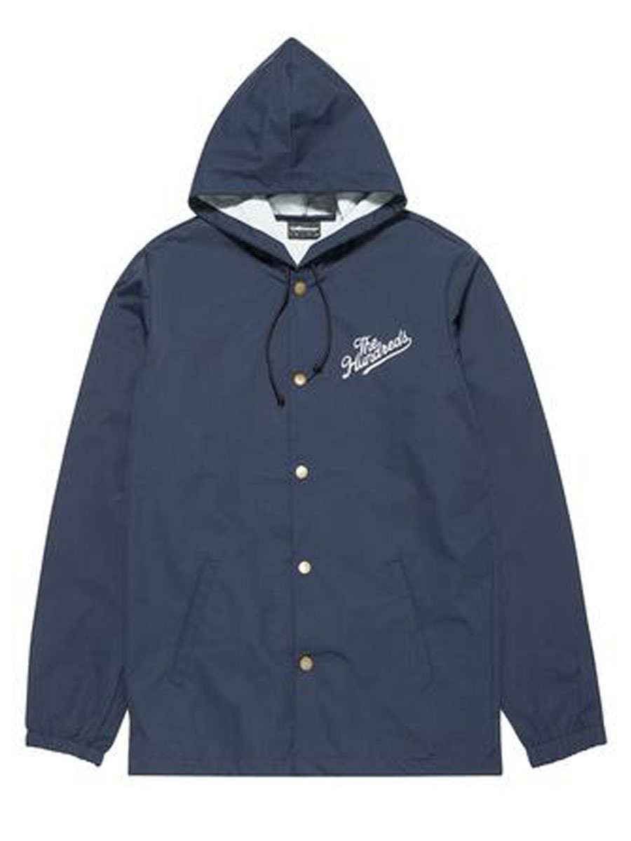 The hundreds slant trail hooded coach jacket navy for Coach jacket