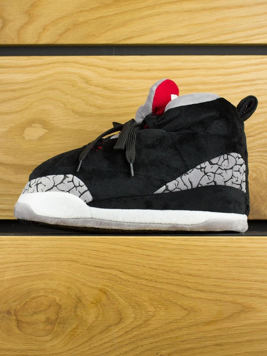 9b42ece364b1c Uzzy Slippers Sky Jumper  Jordan 3 Black Cement
