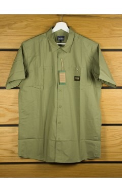 Acapulco Gold Ranger S/S Button Down Shirt - Olive