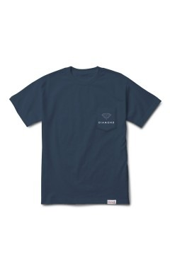 Diamond Supply Futura Sign Pocket T-Shirt - Navy