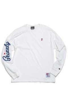 Grizzly Champion Behind The Arc L/S T-Shirt - White