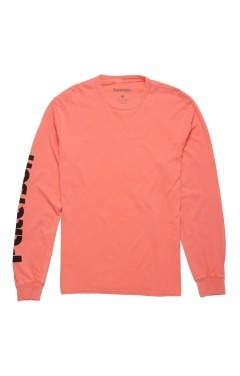 Paterson Logo Sleeve L/S T-Shirt - Hyper Coral