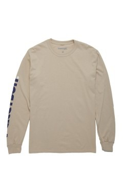 Paterson Logo Sleeve L/S T-Shirt - Oat