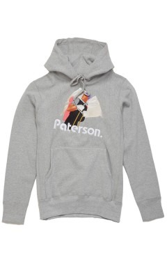 Paterson Trecker Embroidered Pullover Hoody - Heather Grey