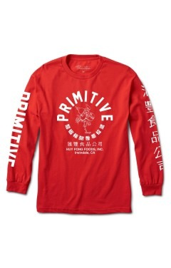 Primitive x Huy Fong Big Arch Rooster L/S T-Shirt - Red