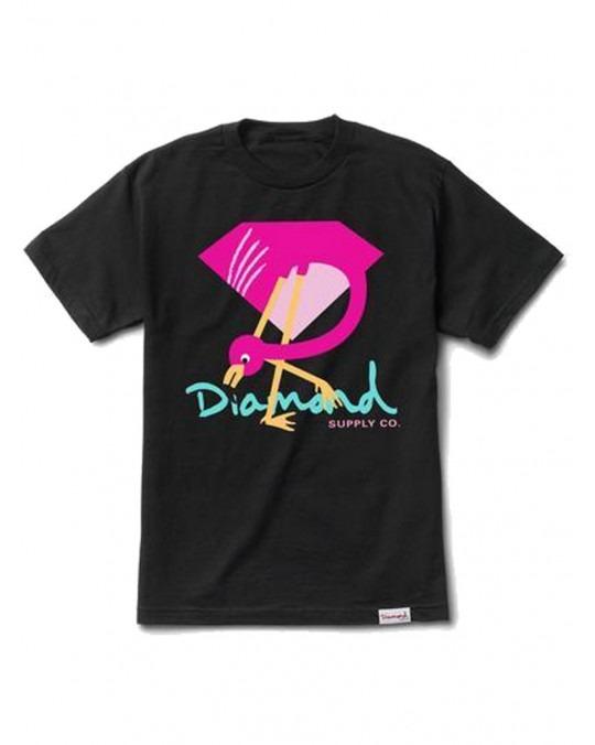 Diamond Supply Co Flamingo Sign T-Shirt - Black