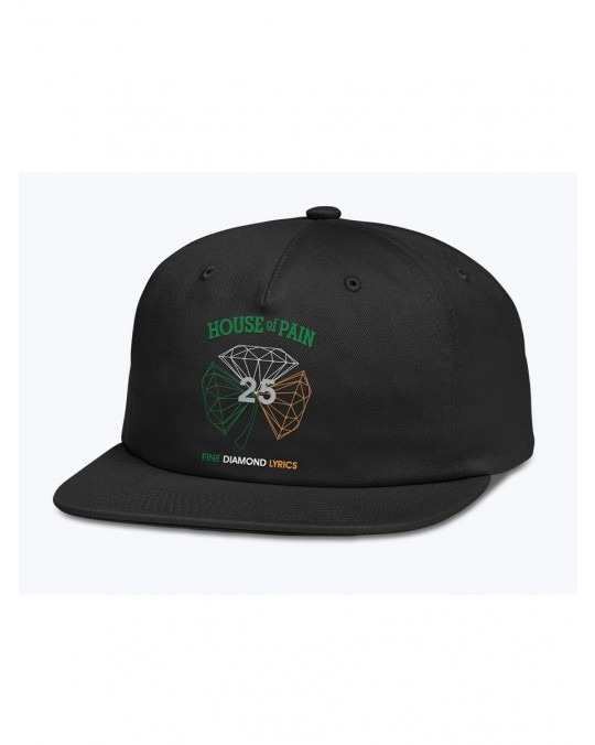Diamond Supply Co x House Of Pain H.O.P Unstructured 6 Panel - Black