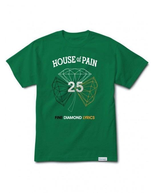 Diamond Supply Co x House Of Pain H.O.P T-Shirt - Kelly Green