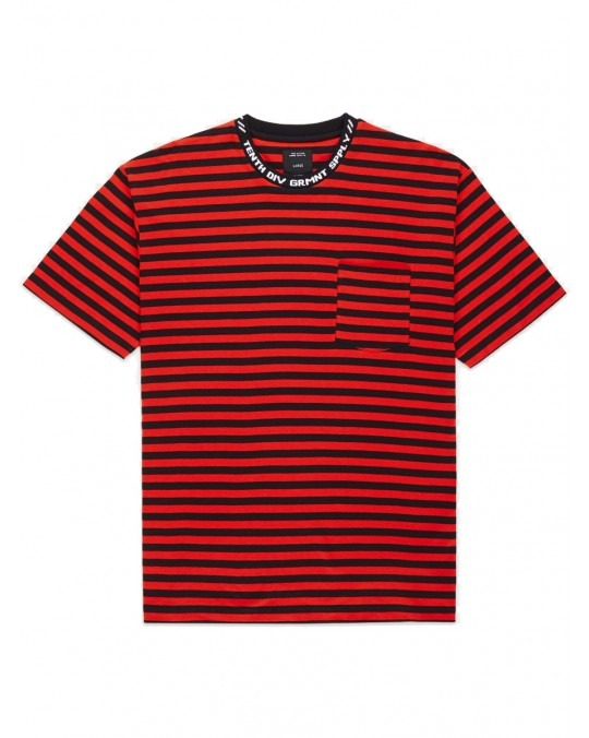 10 Deep Foreigner Striped T-Shirt - Red