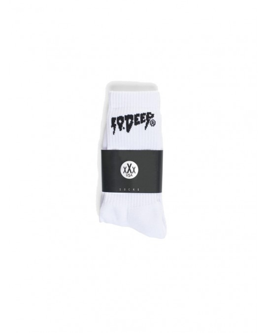 10 Deep Sound & Fury Socks - White