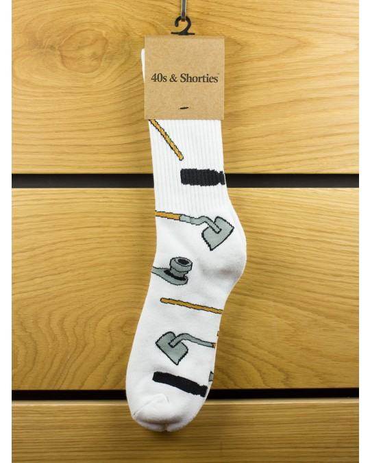 40s & Shorties Tools Socks - White