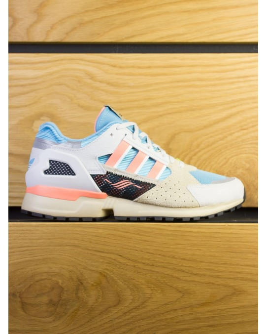Adidas Consortium ZX 10,000 C Supercolour - Grey Blue Coral Orange