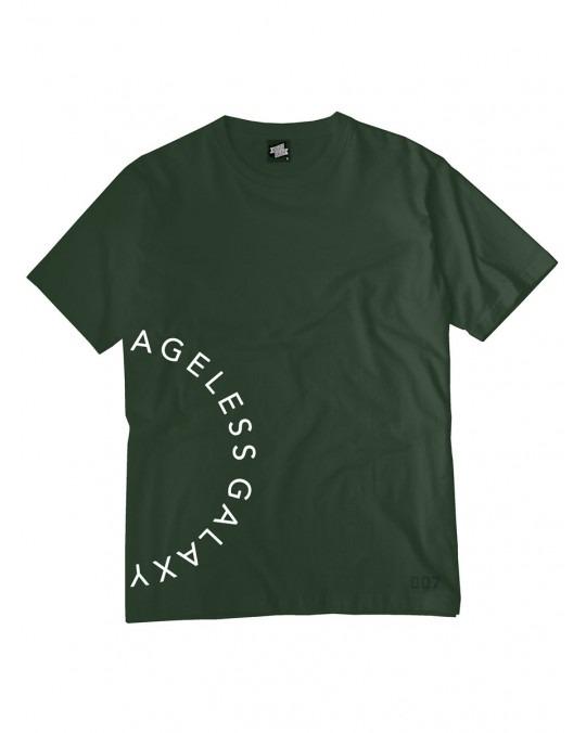 Ageless Galaxy Crescent POD 007 T-Shirt - Military Green