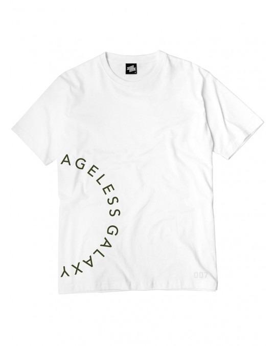 Ageless Galaxy Crescent POD 007 T-Shirt - White