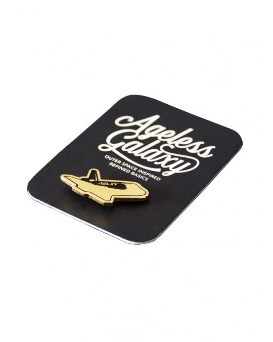 Ageless Galaxy The Discovery POD 007 Pin - Black & Gold