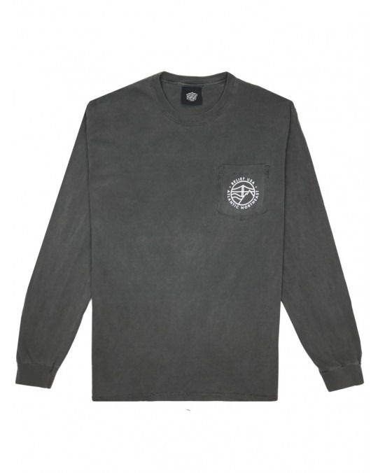 Belief Atlantic L/S Pocket T-Shirt - Pepper