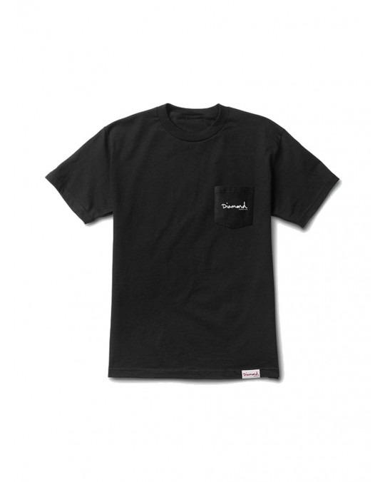 Diamond Supply Mini OG Script Pocket T-Shirt - Black