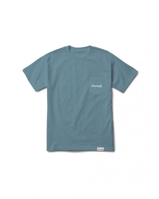 Diamond Supply Mini OG Script Pocket T-Shirt - Slate