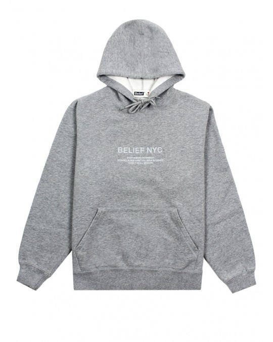 Belief Bayside Premium Pullover Hoody - Heather Grey