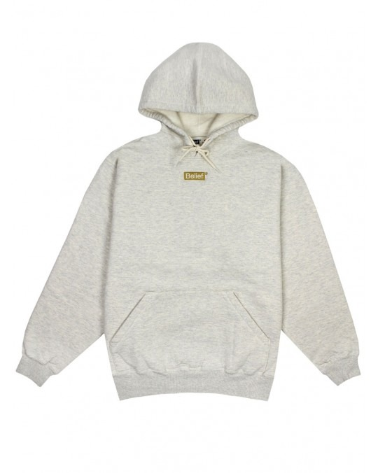 Belief Box Logo Deluxe Pullover Hoody - Oatmeal Heather