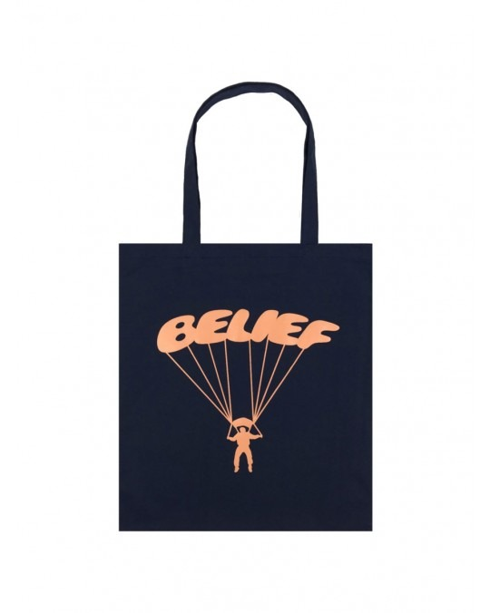 Belief Paracute Tote Bag - Navy