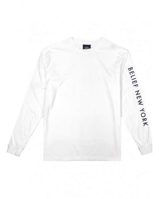 Belief Sideline L/S T-Shirt - White