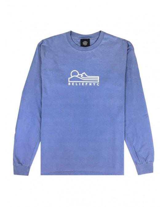 Belief Terrain L/S T-Shirt - Flo Blue