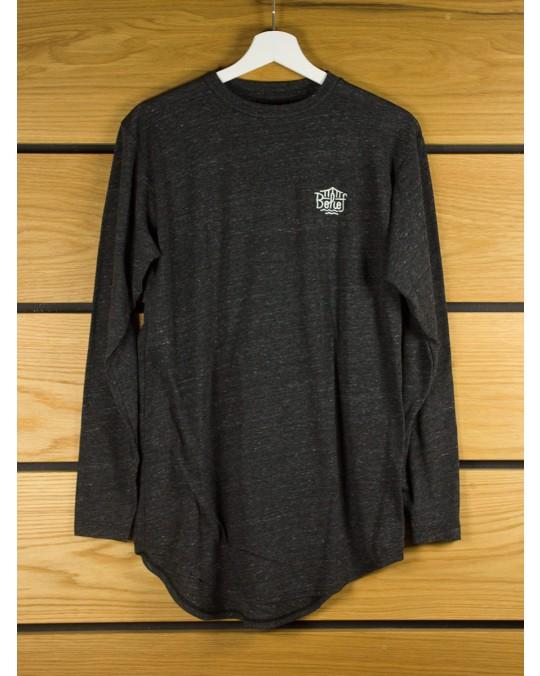 Belief Triboro L/S Scoop T-Shirt - Tri Black
