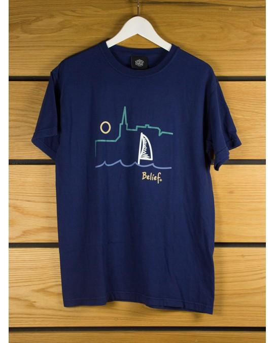 Belief Yacht T-Shirt - Navy