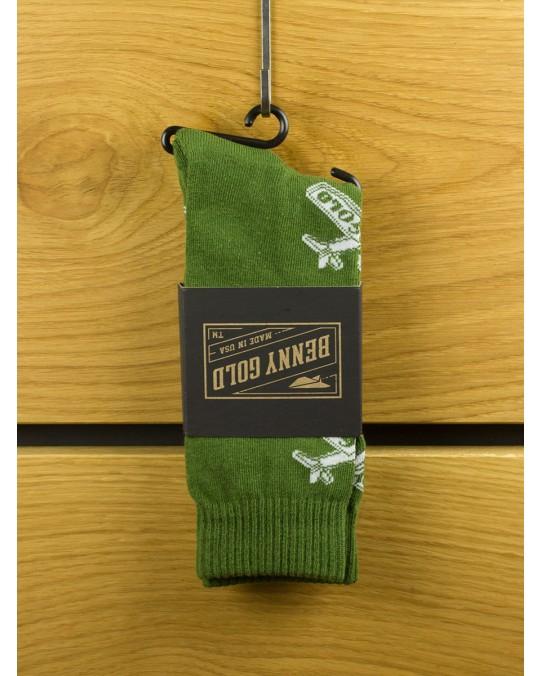 Benny Gold Glider Socks - Army Green