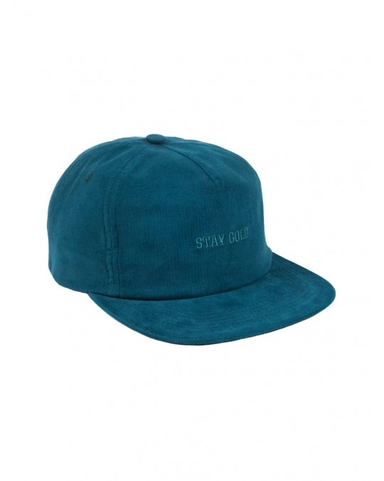 Benny Gold Stay Gold Casual Corduroy Snapback - Blue
