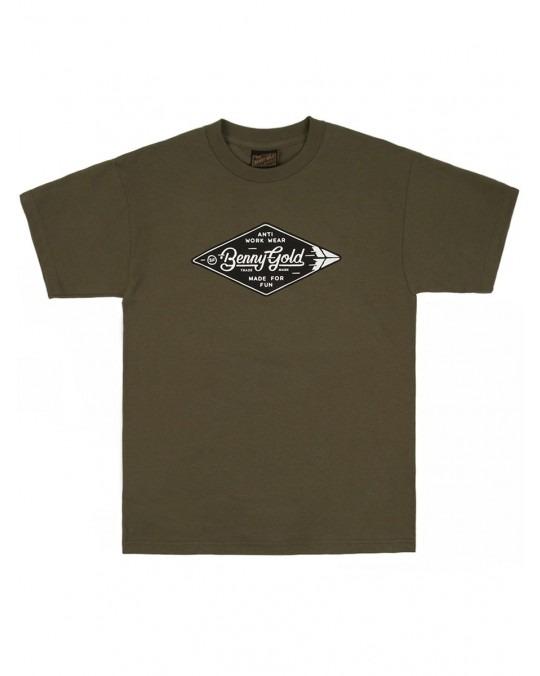 Benny Gold Diamond Label T-Shirt - Army Green