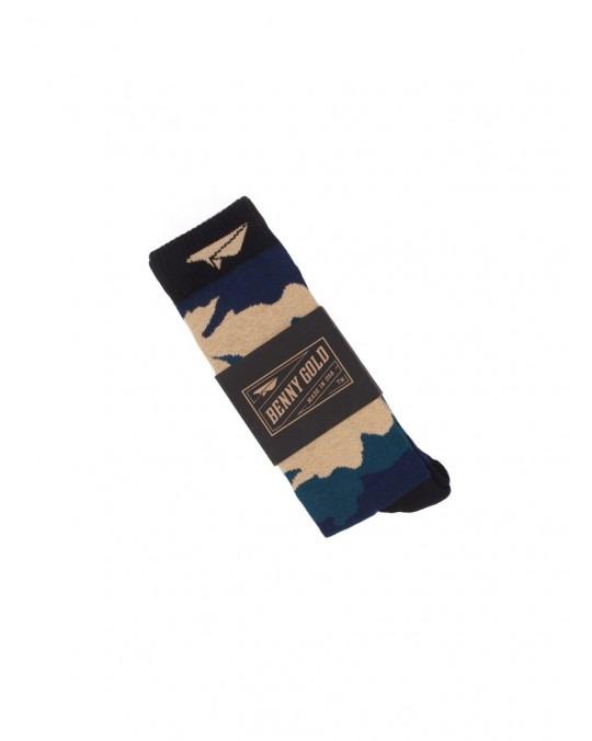 Benny Gold Fog Camo Socks - Navy