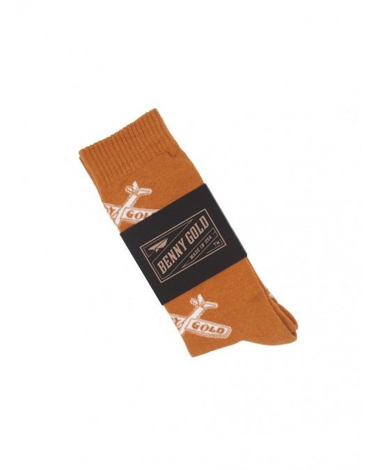 Benny Gold Glider Socks - Peach