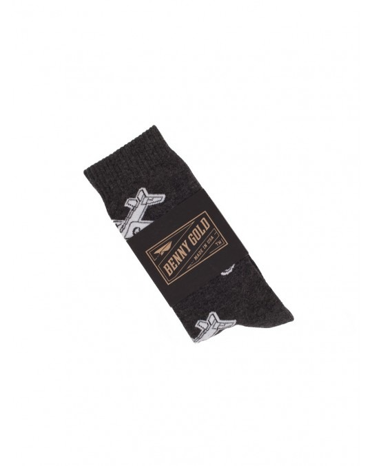 Benny Gold Glider Plane Socks - Charcoal