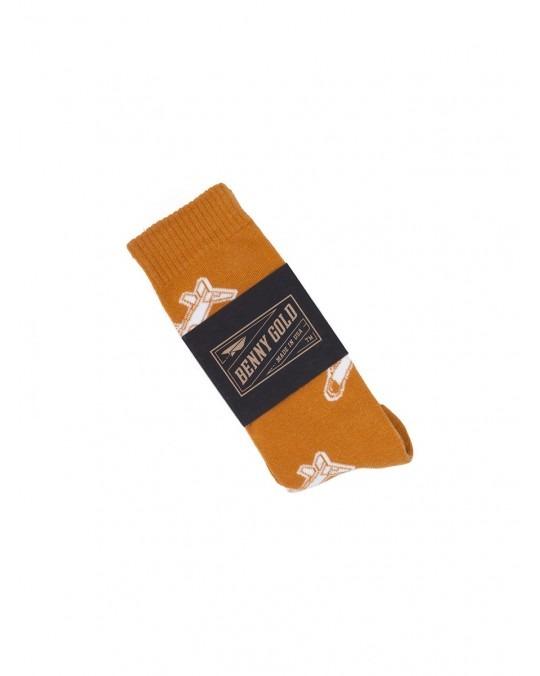 Benny Gold Glider Plane Socks - Copper