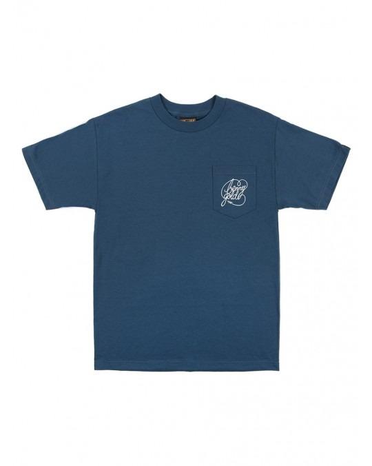 Benny Gold Classic Script Pocket T-Shirt - Harbour Blue